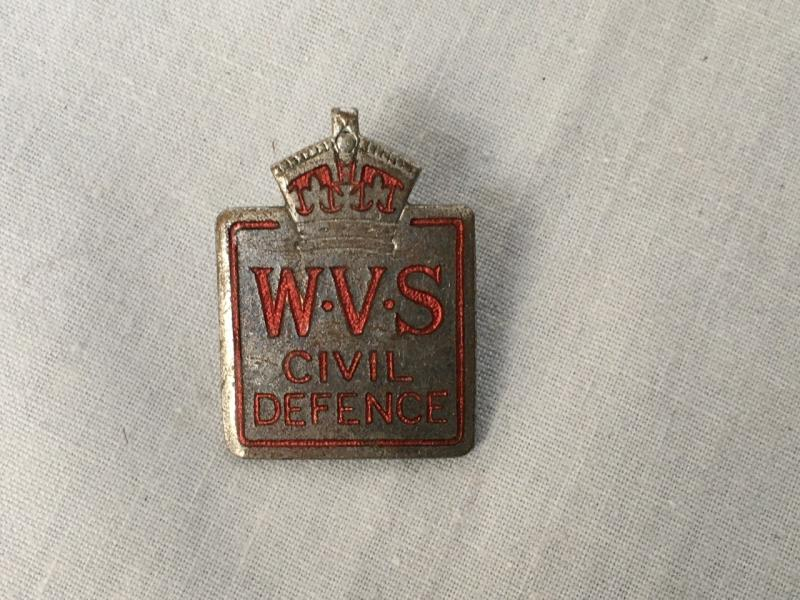 WVS CIVIL DEFENCE BADGE