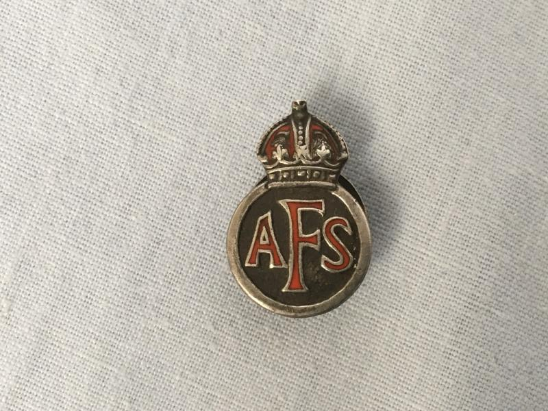 WW2 AFS LAPEL BADGE