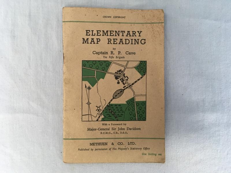 WW2 DATED PAMPHLET ELEMENTARY MAP READING
